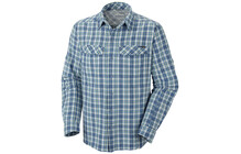 Columbia Men's Silver Ridge Plaid Long Sleeve Shirt hyper blue